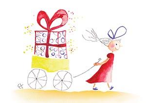 chariot cadeau