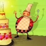 Cartes anniversaire - Le gâteau