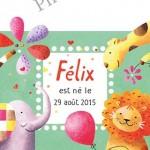 Faire-part de naissance pour Félix